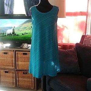 Turquoise swim cover up dress